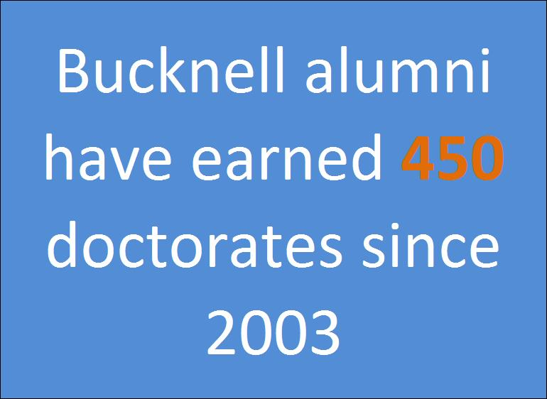 Bucknell Alumni Doctorate Recipients